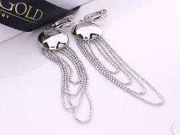 kolczyki srebrne angielskie zapięcie wiszące srebro realne zdjęcia na modelce uchu kolczyki srebrne na prezent dla żony dziewczyny urodziny imieniny rocznicę pakowanie na prezent