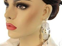 kolczyki srebrne łapacz snów długie wiszące pióra srebro realne zdjęcia na modelce uchu kolczyki srebrne na prezent dla żony dziewczyny urodziny imieniny rocznicę pakowanie na prezent