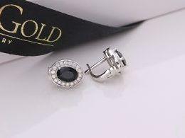 kolczyki srebrne z onyksem onyks angielskie zapięcie srebro realne zdjęcia na modelce uchu kolczyki srebrne na prezent dla żony dziewczyny urodziny imieniny rocznicę pakowanie na prezent
