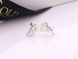 kolczyki srebrne sztyft wkrety srebro realne zdjęcia na modelce uchu kolczyki srebrne na prezent dla żony dziewczyny urodziny imieniny rocznicę pakowanie na prezent
