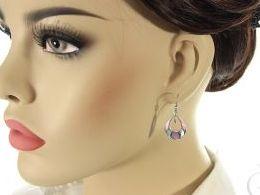 kolczyki srebrne z masą perłową masa perłowa otwarte zapięcie srebro realne zdjęcia na modelce uchu kolczyki srebrne na prezent dla żony dziewczyny urodziny imieniny rocznicę pakowanie na prezent