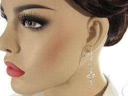 kolczyki srebrne wiszące srebro realne zdjęcia na modelce uchu kolczyki srebrne na prezent dla żony dziewczyny urodziny imieniny rocznicę pakowanie na prezent