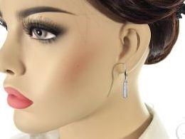 kolczyki srebrne wiszące z cyrkoniami cyrkonie srebro realne zdjęcia na modelce uchu kolczyki srebrne na prezent dla żony dziewczyny urodziny imieniny rocznicę pakowanie na prezent