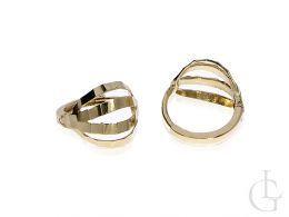 złote kolczyki okrągłe zamknięte zapięcie złoto żółte próba 0.585 14ct