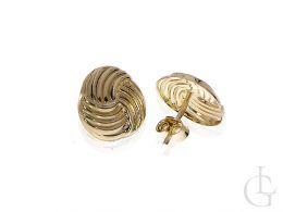 kolczyki złote okrągłe zapięcie sztyft złoto żółte 0.585 14ct