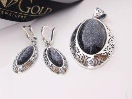 komplet biżuterii srebrnej masą perłową masa perłowa srebro realne zdjęcia wisiorka zawieszka na modelce uchu kolczyki srebrne na prezent dla żony dziewczyny urodziny imieniny rocznicę pakowanie na prezent