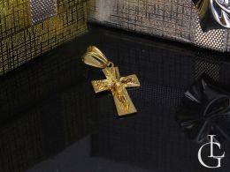 złoty krzyżyk z Panem Jezusem na łańcuszek złoto żółte próba 0.585 14ct