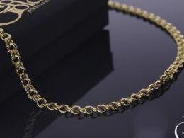 łańcuszek złoty galibardi na szyi realne zdjęcie złoto żółte
