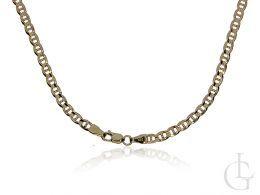złoty łańcuszek szeroki na szyi realne zdjęcie złoto żółte próba 0.585 ekskluzywne eleganckie łańcuszki damskie męskie