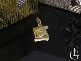 medalik złoty papirus Matka Boska złoto żółte 0.585