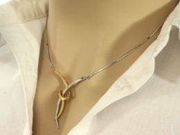 aszyjnik srebrny żyłkowy linka przywieszka zawieszka prezent dla żony dziewczyny na urodziny imieniny rocznicę pod choinkę realne zdjęcia na modelce szyi