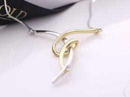 naszyjnik srebrny żyłkowy linka przywieszka zawieszka prezent dla żony dziewczyny na urodziny imieniny rocznicę pod choinkę realne zdjęcia na modelce szyi