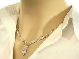 naszyjnik srebrny damski żyłkowy linka kolia cyrkonie przywieszka zawieszka prezent dla żony dziewczyny na urodziny imieniny rocznicę pod choinkę realne zdjęcia na modelce szyi
