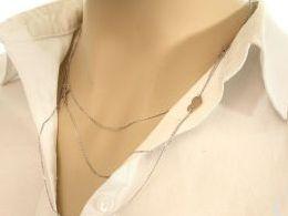 naszyjnik srebrny celebrytka łańcuszek potrójny serduszko serce krzyżyk ankier celebrytki srebrne realne zdjęcie zdjęcia na modelce szyi prezent dla żony zony dziewczyny na Mikołaja walentynki pod choinkę