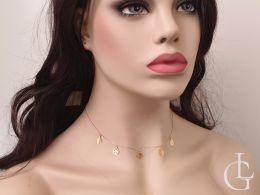 celebrytka złoty naszyjnik damski monety rzymskie choker złoto żółte naszyjnik złoty dla dziewczyny żony na prezent