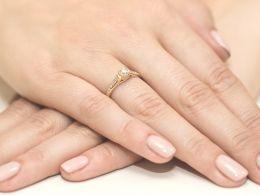 pierścionek zaręczynowy z brylantami złoto żółte 0.585 diamenty brylanty prezent dla żony dziewczyny