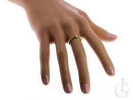 pierścionek zaręczynowy z brylantem złoty żółte złoto próba 0.585 zaręczyny pierścionki złote brylant klasyczne pierścionki zaręczynowe