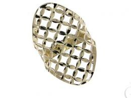złoty pierścionek ażurowy szeroki gruby duży długi złoto żółte prezent dla żony dziewczyny na urodziny imieniny na pamiątkę pod choinkę realne zdjęcie zdjęcia na palcu w pudełku na modelce