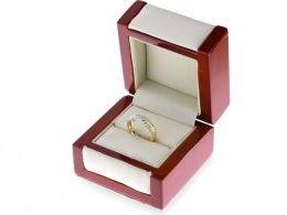 złoty pierścionek obrączka ażurowa złoto żółte złoto białe pierścionek obrączka na prezent dla dziewczyny żony
