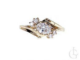 złoty pierścionek zaręczynowy klasyczny złoto żółte próba 0.585 cyrkonia pierścionki zaręczynowe klasyczne