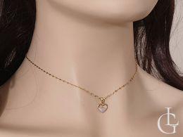 złoty wisiorek serce serduszko z brylantami diamentami diament brylant zawieszka złota na prezent walentynki pod choinkę