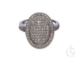 pierścionek srebrny ekskluzywny srebro rodowane cyrkonie owalna korona duża pierścionki srebrne damskie różne wzory