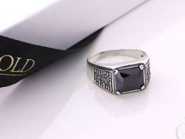 sygnet męski srebrny pierścionek