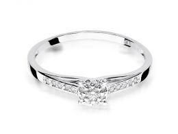 pierścionek zaręczynowy z brylantami białe złoto próba 0.585 14ct