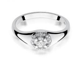 pierścionek złoty z brylan