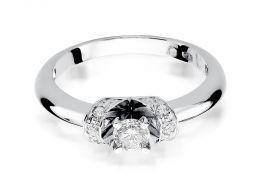 pierścionek zaręczynowy białe złoto brylanty diamenty złoto próba 0.585 14ct