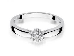złoty pierścionek zaręczynowy klasyczny złoto białe próba 0.585 brylant diament pierścionki zaręczynowe klasyczne