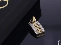 wisiorek złoty zawieszka złota na łańcuszek z cyrkoniami cyrkonie prezent dla dziewczyny żony koleżanki na urodziny imieniny rocznicę zawieszki złote serduszka na walentynki pod choinkę na Mikołaja prezent