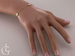 złota bransoletka celebrytka na ręce na nadgarstku kółka łańcuszek ankier bransoletki złote damskie celebrytki realne zdjęcia