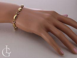 bransoletka damska na nadgarstku na ręce serca serduszka złoto żółte próba 0.585 14K