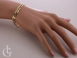 złota elegancka bransoletka damska na nadgarstku na ręce złoto żółte próba 0.585 14K