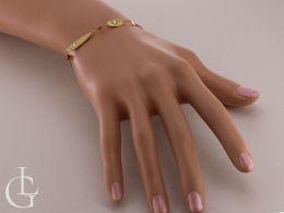 bransoletka złota ekskluzywna na ręce na nadgarstku złoto żółte próba 0.585 14ct