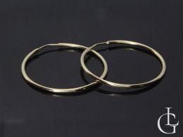 kolczyki złote duże koła na uchu złoto żółte