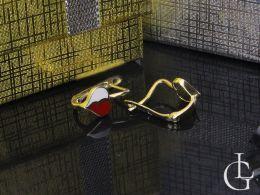 złote kolczyki serduszka wiszące na klasyczne zapięcie próba złota 0.585