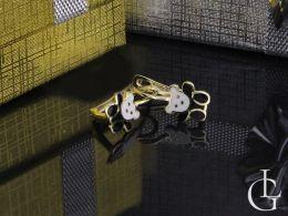 misie złote kolczyki dla dziecka dziewczyny dziewczynki na prezent zapięcie angielskie kolczyki wiszące złoto żółte próba 0.585 14ct chrzciny, komunia, walentynki