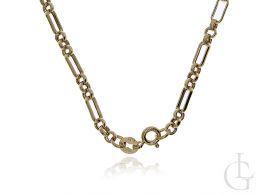 złoty elegancki łańcuszek damski szeroki gruby złoto żółte próba 0.585 14ct