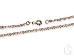łańcuszek złoty damski pełny splot lisi ogon łańcuszek diamentowany złoto żółte próba 0.585
