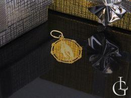 złoty medalik Matka Boska Niepokalana złoto żółte próba 0.585 prezent na komunię, chrzest dziecka