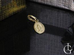 złoty medalik z Matka Boska Niepokalanego Poczęcie na łańcuszek złoto żółte próba 0.585