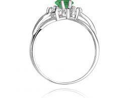 złoty pierścionek markiza na zaręczyny szmaragd naturalny i brylanty złoto białe próba 0.585 14ct pierścionek na palcu dłoni realne zdjęcie pierścionek pod choinkę na rocznicę dla żony dziewczyny walentynki mikołaj