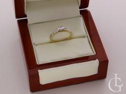 pierścionek złoty ekskluzywny w pudełku złoto żółte próba 0.585 14ct