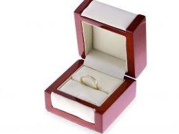 złoty pierścionek obrączka z brylantami złoto żółte certyfikat brylantu