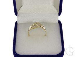 złoty pierścionek nowoczesny design wzór zaręczyny złoto żółte próba 0.585 14ct