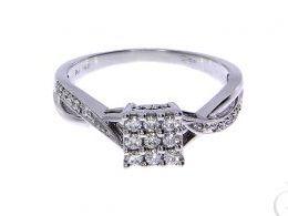 pierścionek złoty zaręczynowy z diamentami brylantami białe złoto zaręczyny cyrkonie złoto żółte 14K 0.585 pierścionek na palcu w pudełku realne zdjęcie zdjęcia pierścionek zaręczynowy na rocznicę pamiątkę mikołaja pod choinkę