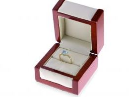 złoty pierścionek zaręczynowy korona serce topaz brylanty diamenty złoto żółte 0.585