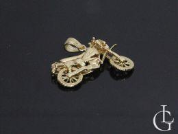 motocykl motor złoty wisiorek zawieszka złoto żółte na łańcuszek